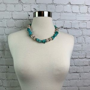 Jewelry - Faux Pear and Turquoise Choker Necklace